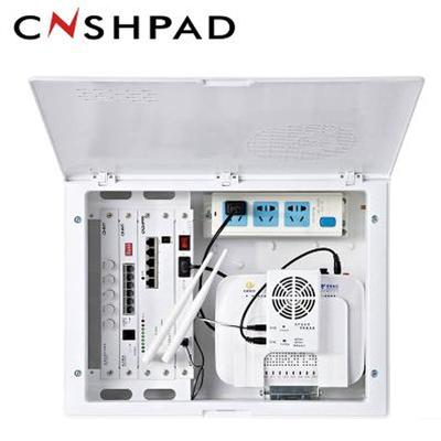 华夏 弱电箱家用套装 带无线路由器 光纤入户箱 多媒体信息箱hax